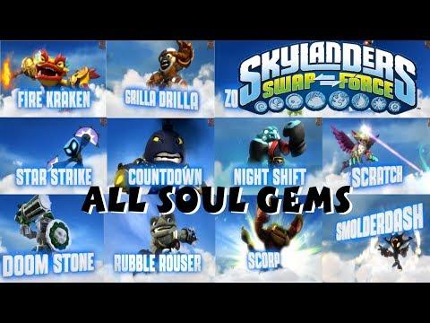 Skylanders Swap Force All Soul Gem Previews 1080P HD
