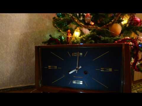 Каминные часы Янтарь 1974 год