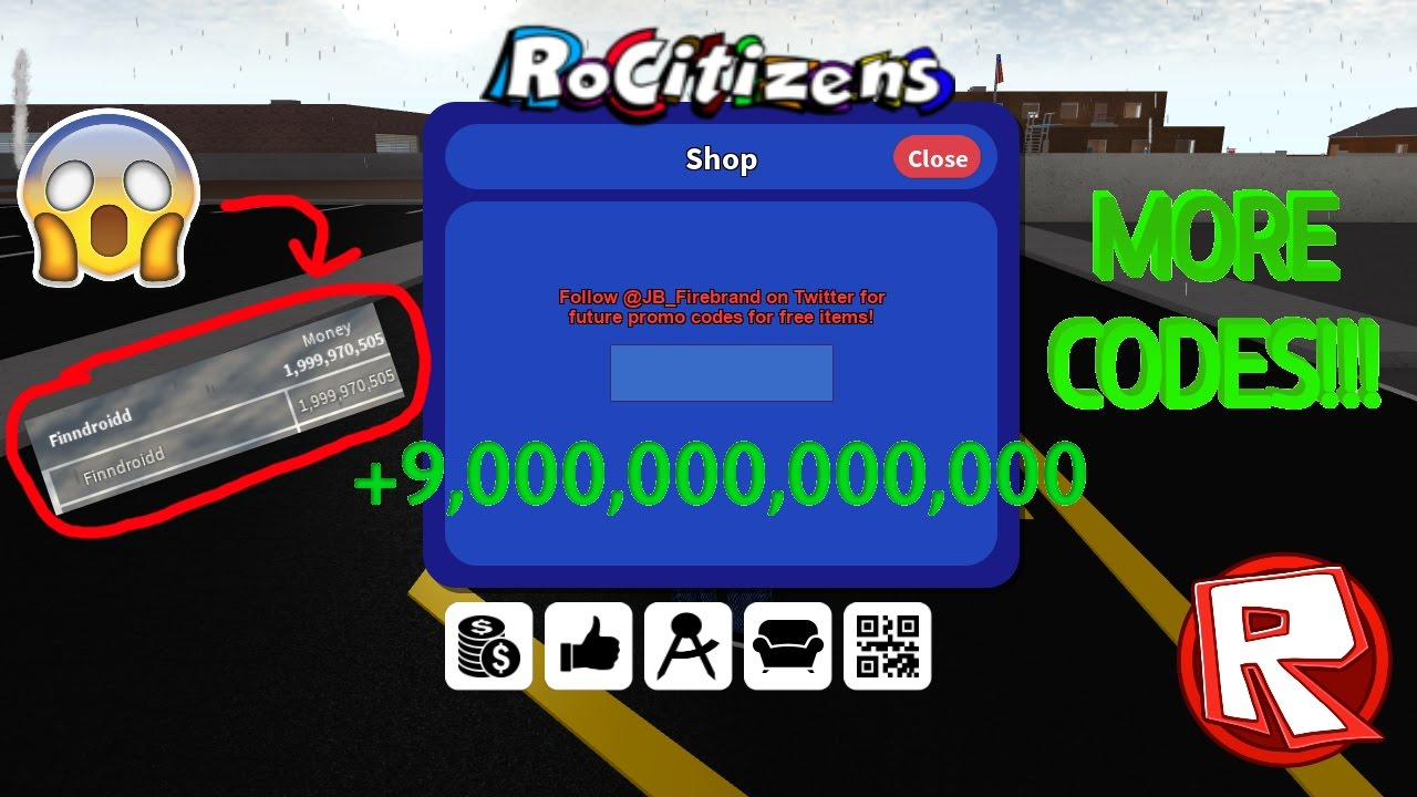 Codes List Rocitizens Roblox 2017