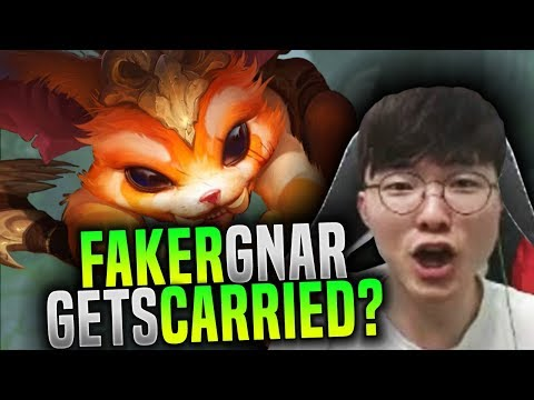 Faker Getting Carried by his team? - SKT T1 Faker Plays Gnar Toplane! | SKT T1 Replays
