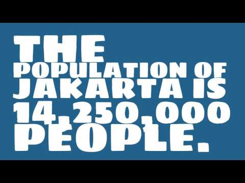 What is the population density of Jakarta?