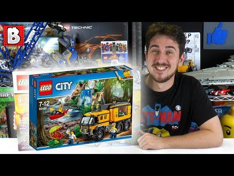 LEGO Jungle Mobile Lab | City 60160 | BrickVault LIVE - 2017 LEGO City Set, Jungle theme!