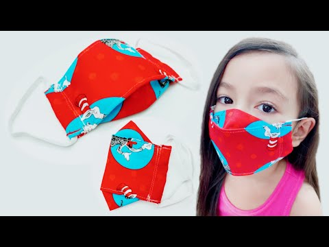 How To Sew 3D Face Mask with Filter Pocket Kids Size At Home