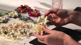 How do I create elegant papercrafted flowers? 5 step by step techniques