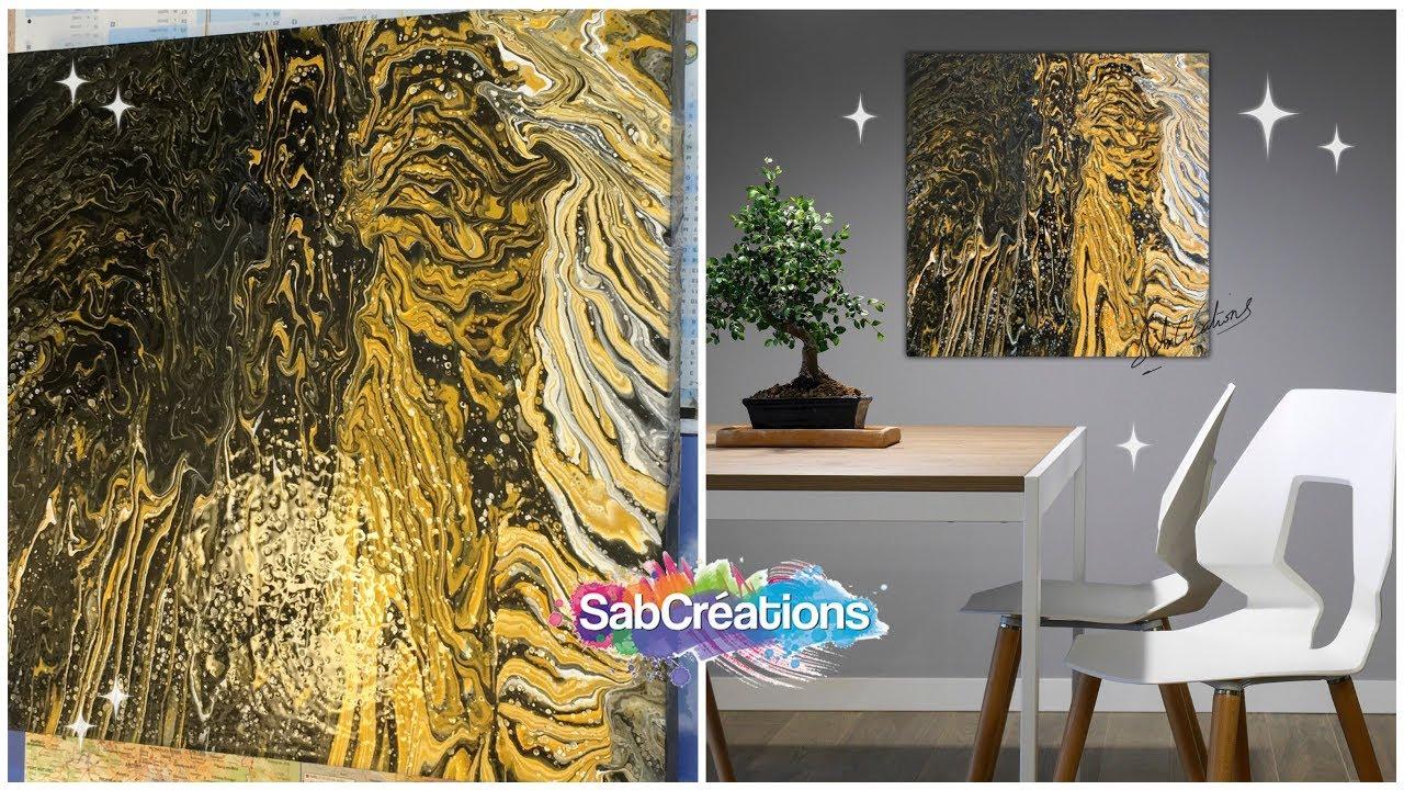 2 Acrilic Pouring Art Tableau Abstrait Peinture Acrylique