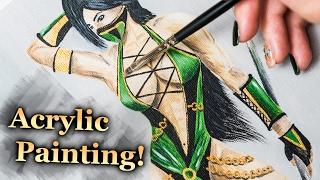 Jade from Mortal Kombat - Acrylic painting (4k)