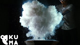 What Happens When You Mix  Liquid Nitrogen and Boiling Water? Making Instant Clouds in Slow Motion!
