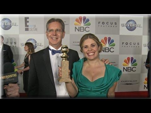"""Frozen"" Directors Chris Buck and Jennifer Lee react to Golden Globe Win"