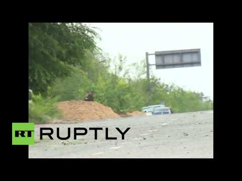 Ukraine: Moment a Ukrainian army shell explodes killing Russian journalist