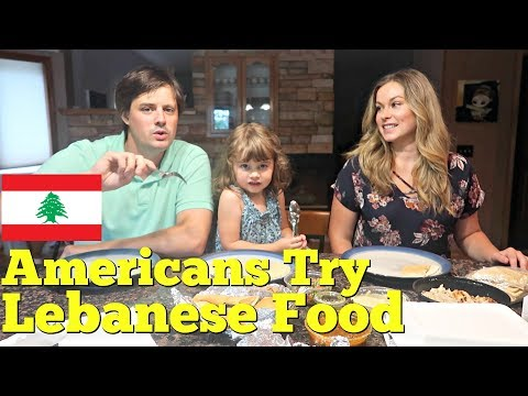 AMERICANS TRY MIDDLE EASTERN FOOD: Lebanon - Raw Kibbi, Baba Ghannuj, Tabouli, Kabob.