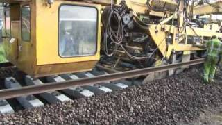 Ever seen a train lay its own track VIDEO