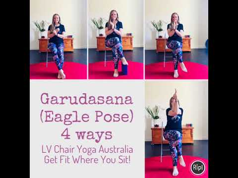 garudasana eagle pose 4 ways  youtube