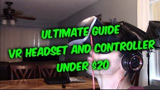 How to setup connect & use VR 360 Headset and controller to your Phone