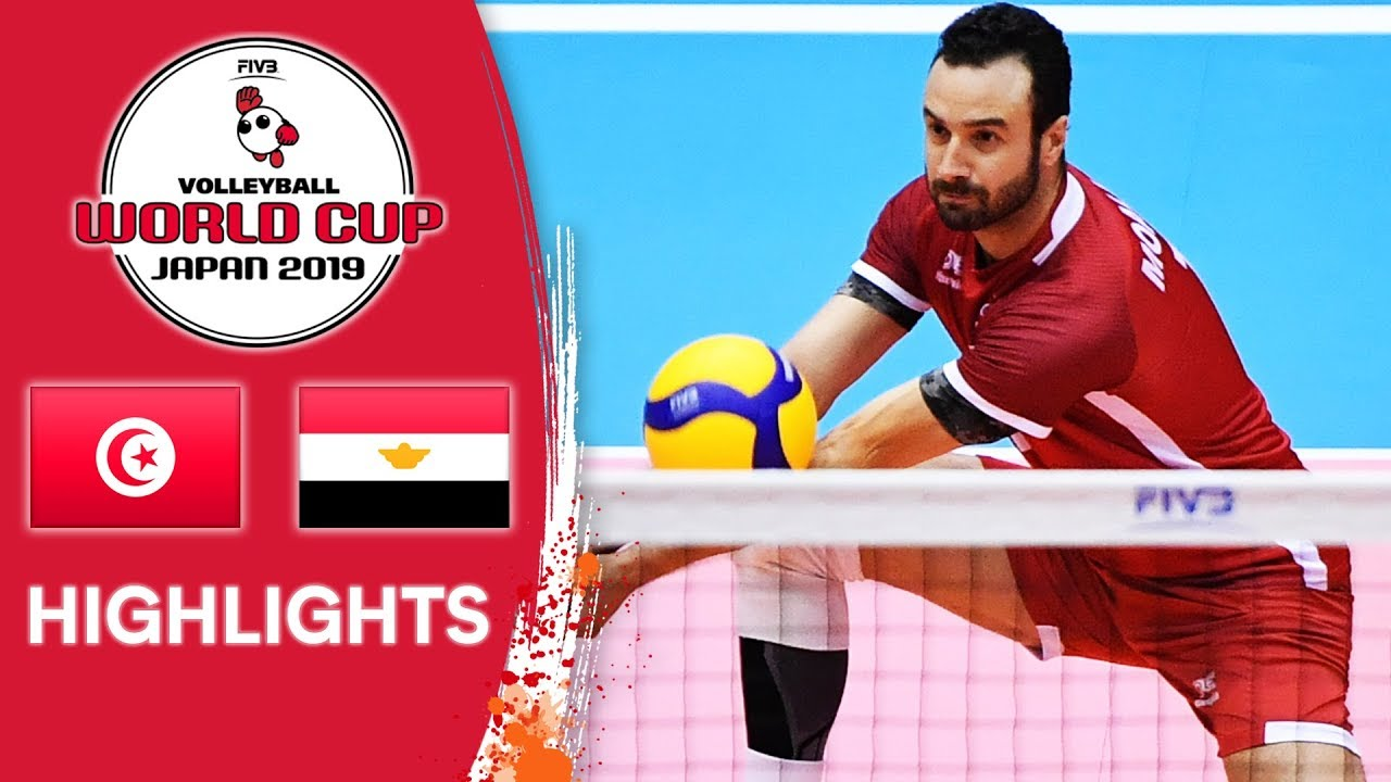TUNISIA vs. EGYPT - Highlights   Men's Volleyball World Cup 2019