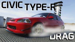 1997 honda civic type r fwd drag build    forza 6
