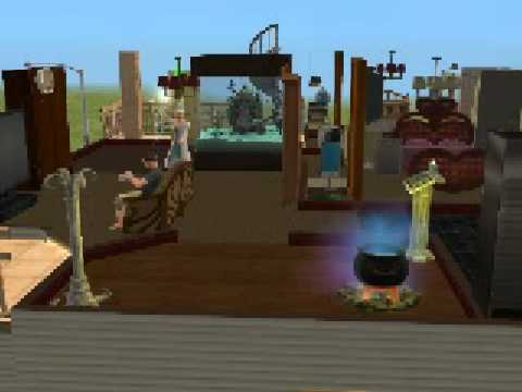 sims2- my witch sim stiring her couldroun