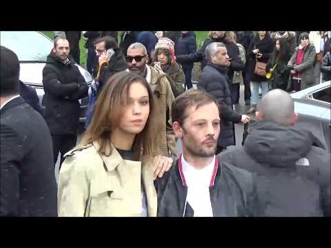 Nicolas Duvauchelle & Anouchka Alsif @ Paris Fashion week 20 janvier 2018 défilé Dior #PFW
