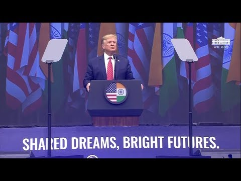 """President Trump Delivers Remarks at """"Howdy Modi: Shared Dreams, Bright Futures"""""""