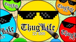 AGARIO THUG LIFE, CALLING IN THE THUG LIFE BACK UP SQUAD XD (THE MOST ADDICTIVE GAME - AGAR.IO #32)