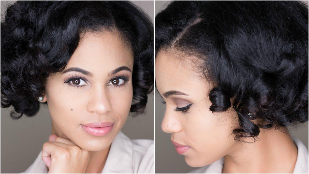 Natural Hair Heatless Satin Roller Set Youtube