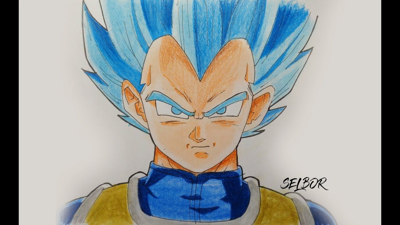 C mo dibujar a vegeta ssj dios dragon ball super paso a - Imagenes de dragon ball super descargar ...