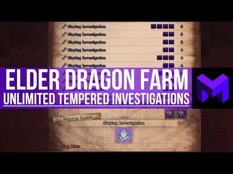 Tempered Elder Dragon Farming: How to get Unlimited Investigations (Monster Hunter World)