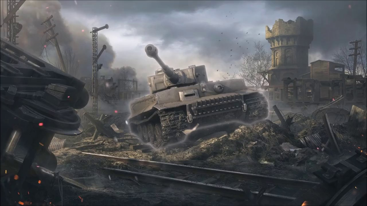 Tiger 1 Worldoftanks Animierter Hintergrund Für Wallpaper Engine Free Download