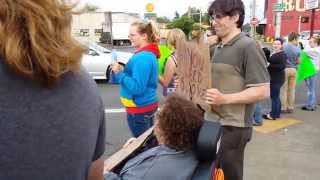 Tillamook street rally for equality