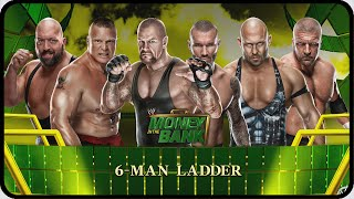 WWE 2k15 Money in the Bank : 6 MAN LADDER !