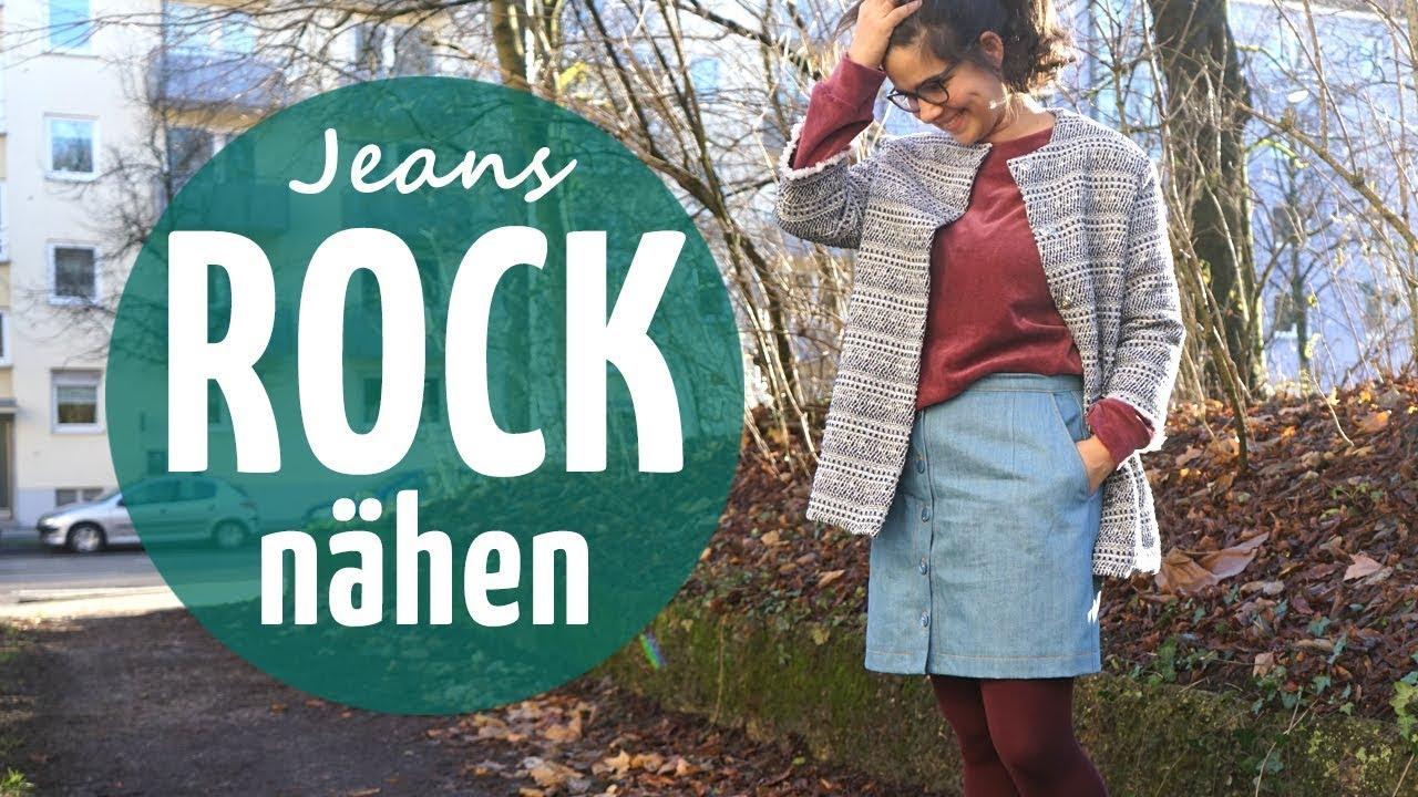 Coolen Jeans Rock Nähen Schnittmuster Näh Anleitung Youtube