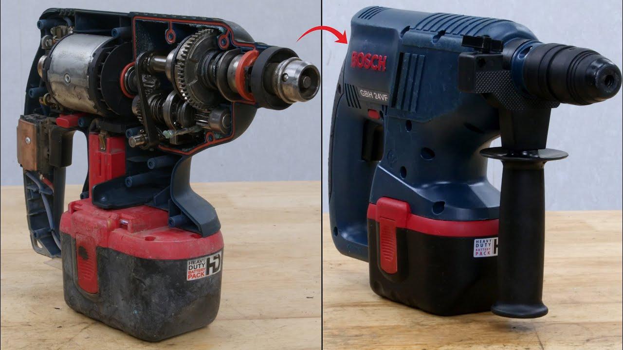 Bosch 24V Rotary Hammer Drill Restoration | GBH 24VF