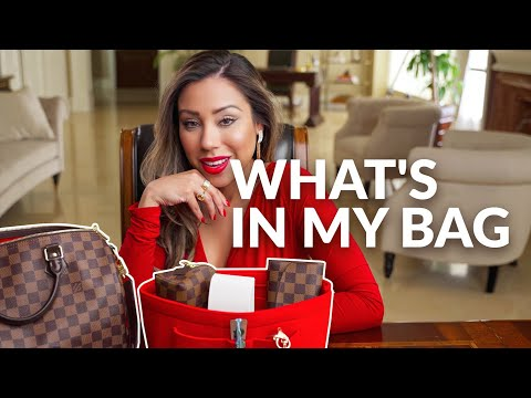 WHAT'S IN MY BAG - Purse Essentials & Organization (Louis Vuitton Bandouliere Speedy 30) thumbnail