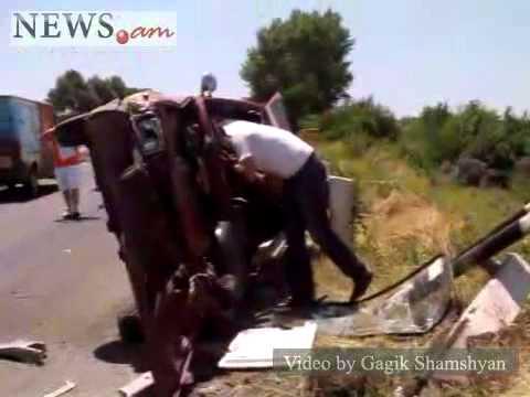Car Accident On Yerevan-Sevan Highway In Armenia, June 30, 2011