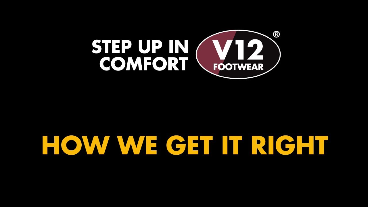 V12 Safety Boots. How we get it right. - YouTube