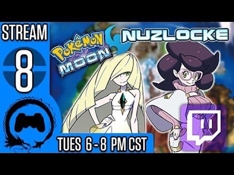 Pokemon Moon NUZLOCKE (BLIND) Part 8 - Stream Four Star