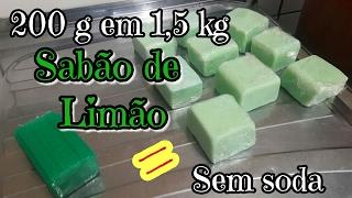 1,5 KG DE SABÃO SEM SODA USANDO 1 BARRA DE 200 G DE MERCADO! 😀