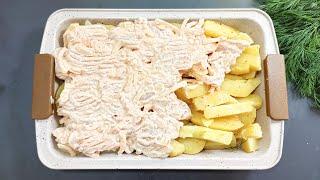 Выкладываю сверху картошки и в духовку Простой и вкусный УЖИН