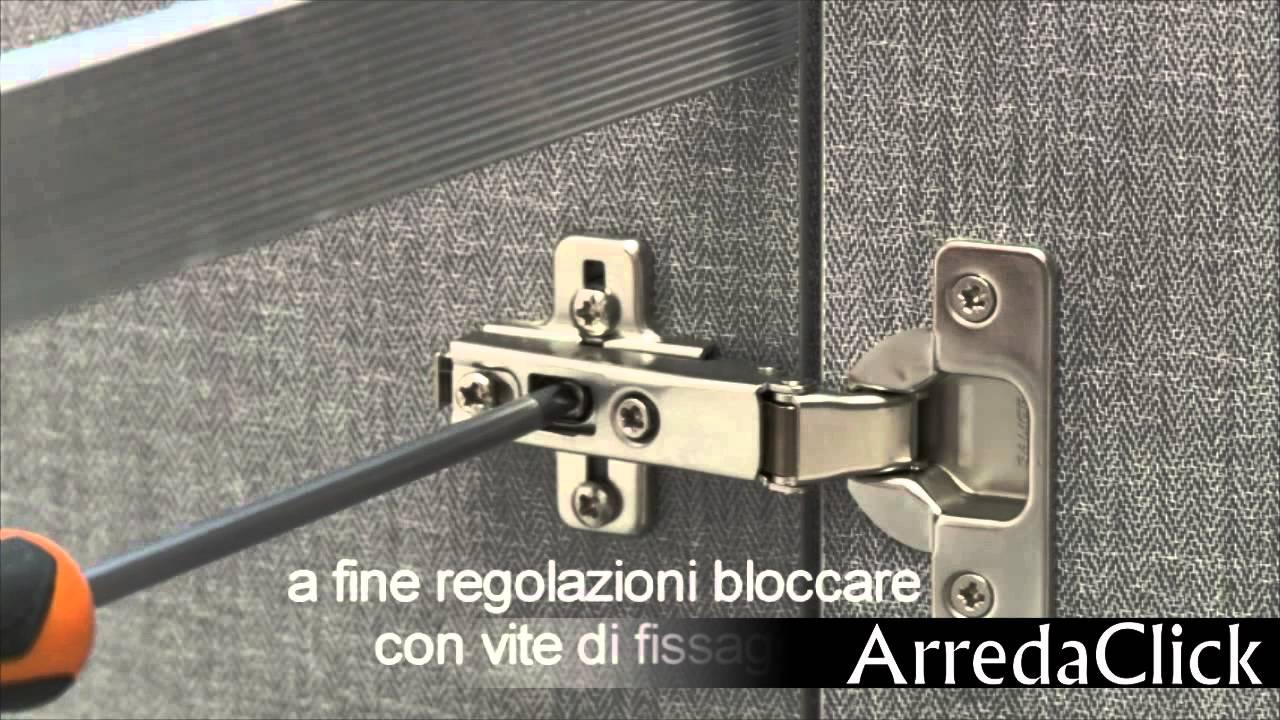 Cerniere Per Ante Armadio Camera Da Letto.Come Regolare Cerniere Ante E Cassetti Youtube