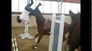 Repeat youtube video Horse falls and fails ... Ouch !