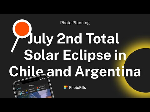 Plan 7. July 2nd Total Solar Eclipse In Chile And Argentina