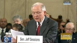 "Sessions ""Humbled"" To Have ""Overwhelming Support"" Of Law Enforcement, Recognizes Officers At Hearing"