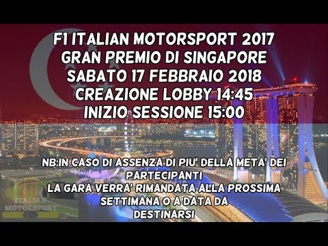GRAN PREMIO DI SINGAPORE - F1 ITALIAN MOTORSPORT 2017