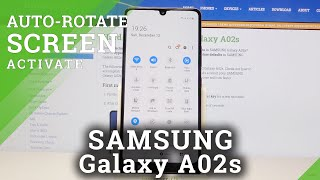 How to Turn On Auto Screen Rotation in Samsung Galaxy A02s – Disable Screen Rotate Feature