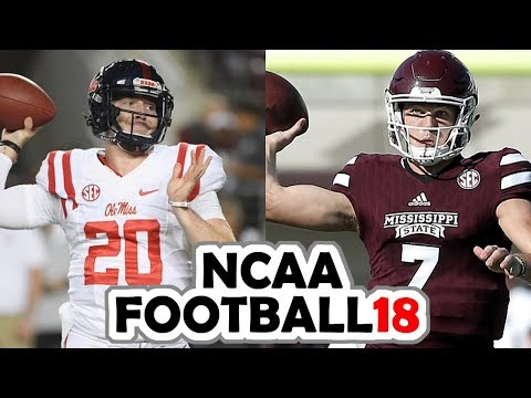 Ole Miss @ Mississippi State - 11-23-17 NCAA Football 18 PRE