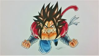 Drawing NEW created SAIYAN as SUPER SAIYAN 4 | BANASES | TolgArt