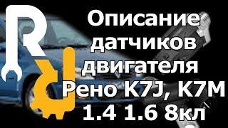 Описание всех датчиков двигателя Рено 1,4 1,6 8V