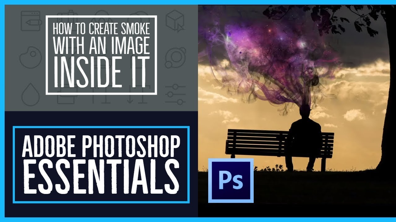 How to create smoke with an image inside it using Photoshop CC - Photoshop CC Essentials [80/86]