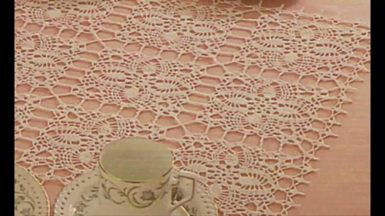 Mantel con uni n de cuadros a crochet youtube - Mantel de crochet ...