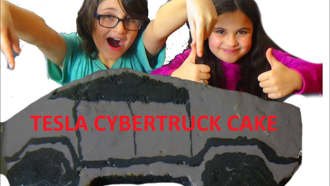 World S First Tesla Cybertruck Birthday Cake Ever Youtube