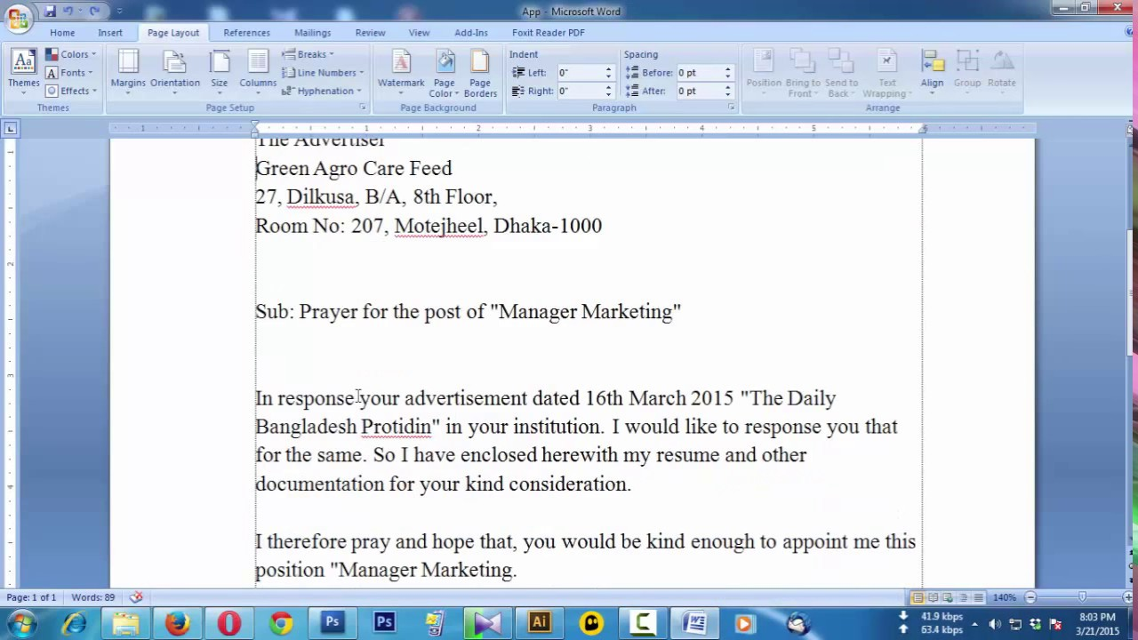 How to create a job application letter youtube jobapplication coverletter altavistaventures